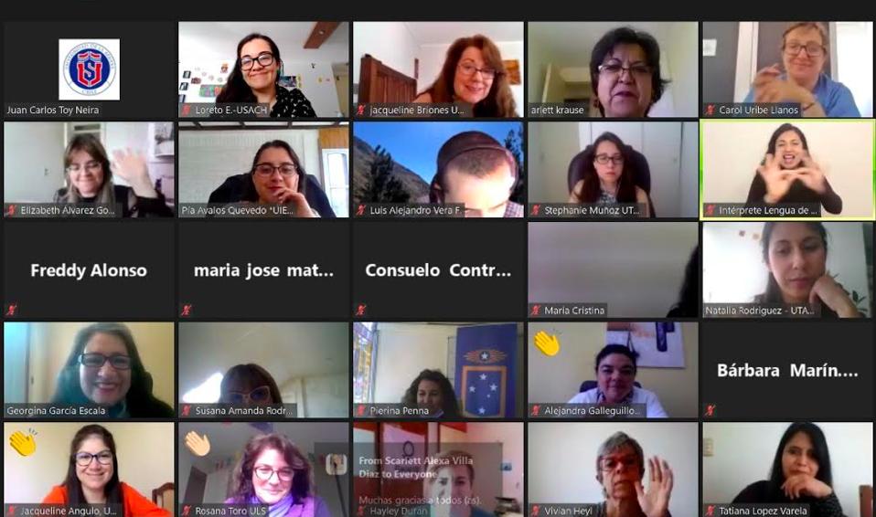 Reunion vía Zoom con Red de Universidades Estatales Chilenas por la Inclusión de Estudiantes en Situación de Discapacidad